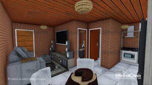 Minha casa pré fabricada modelo Tijolo ecologico 36M² 01