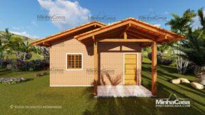 Minha casa pré fabricada modelo Tijolo ecologico 36M² 02