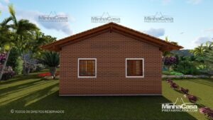 Minha casa pré fabricada modelo Tijolo ecologico 36M² 03