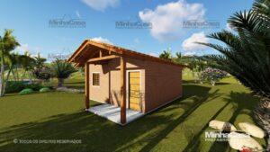 Minha casa pré fabricada modelo Tijolo ecologico 36M² 06