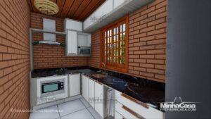 Minha casa pré fabricada modelo Tijolo ecologico 36M² 15