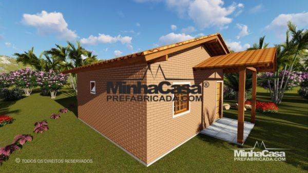 Casa de tijolo ecológico