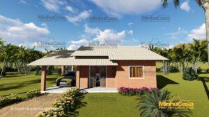 Minha casa pré fabricada modelo Tijolo ecologico 87,63M² 01