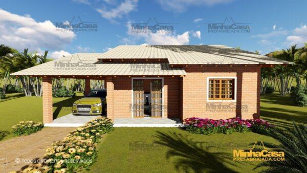 Minha casa pré fabricada modelo Tijolo ecologico 87,63M² 03