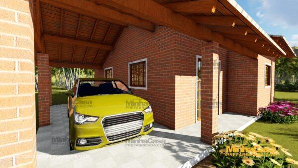 Minha casa pré fabricada modelo Tijolo ecologico 87,63M² 04