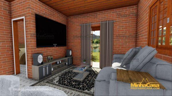 Minha casa pré fabricada modelo Tijolo ecologico 87,63M² 05