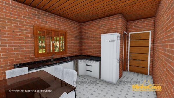 Minha casa pré fabricada modelo Tijolo ecologico 87,63M² 06