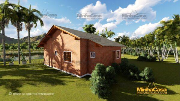 Minha casa pré fabricada modelo Tijolo ecologico 87,63M² 07