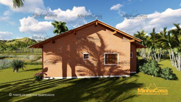 Minha casa pré fabricada modelo Tijolo ecologico 87,63M² 08