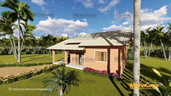 Minha casa pré fabricada modelo Tijolo ecologico 87,63M² 09