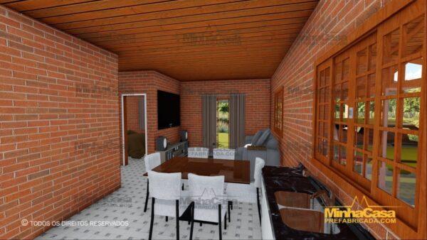 Minha casa pré fabricada modelo Tijolo ecologico 87,63M² 10
