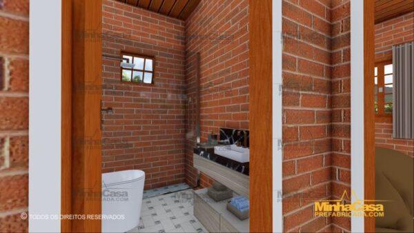Minha casa pré fabricada modelo Tijolo ecologico 87,63M² 11