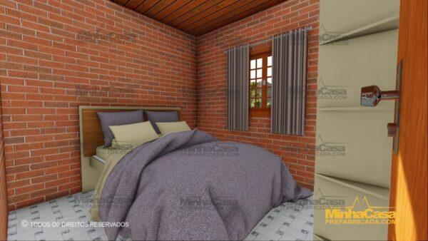 Minha casa pré fabricada modelo Tijolo ecologico 87,63M² 13