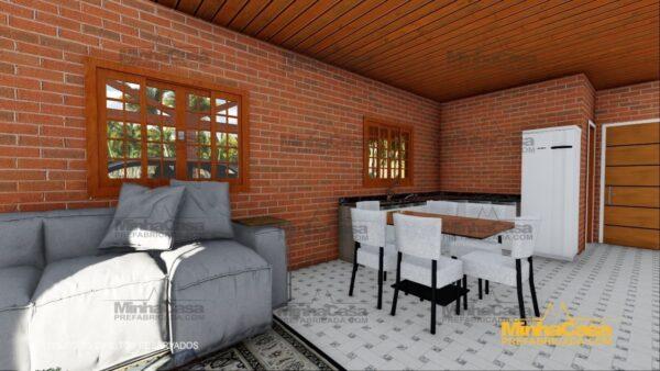 Minha casa pré fabricada modelo Tijolo ecologico 87,63M² 14