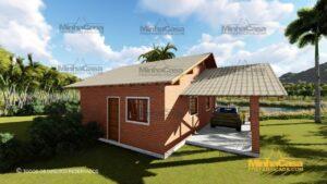 Minha casa pré fabricada modelo Tijolo ecologico 87,63M² 15