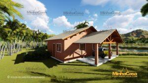 Minha casa pré fabricada modelo Tijolo ecologico 87,63M² 16