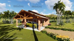 Minha casa pré fabricada modelo Tijolo ecologico 87,63M² 17