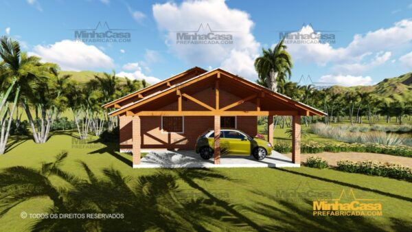 Minha casa pré fabricada modelo Tijolo ecologico 87,63M² 18