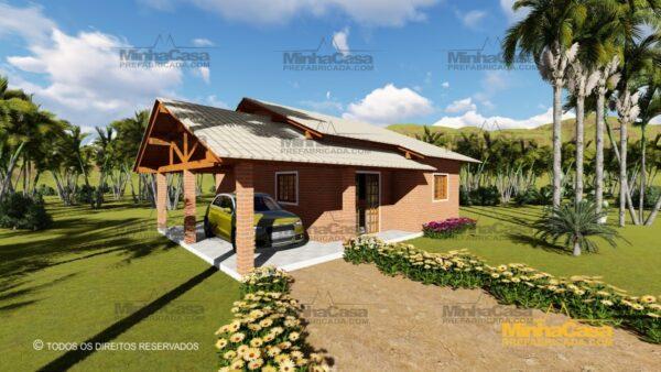 Minha casa pré fabricada modelo Tijolo ecologico 87,63M² 19