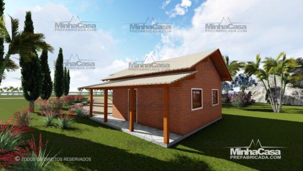 casa de tijolo ecológico te05-15