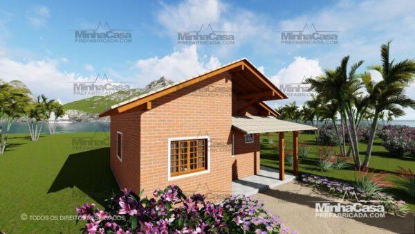 casa de tijolo ecológico te05-13