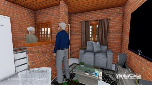 casa de tijolo ecológico te05-12