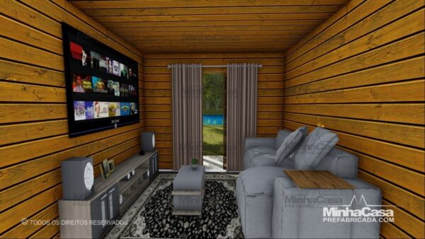 Minha casa pré fabricada modelo Pop 3.2 12