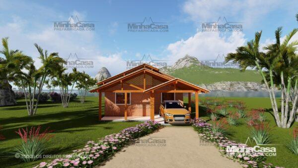 Minha casa pré fabricada modelo Tijolo ecologico 75,25M² 01