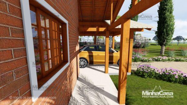 Minha casa pré fabricada modelo Tijolo ecologico 75,25M² 04