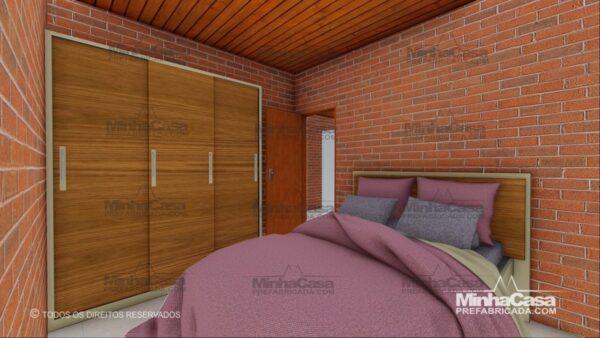 Minha casa pré fabricada modelo Tijolo ecologico 75,25M² 05