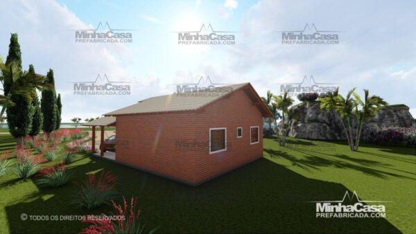 Minha casa pré fabricada modelo Tijolo ecologico 75,25M² 07