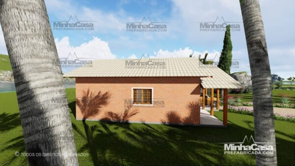 Minha casa pré fabricada modelo Tijolo ecologico 75,25M² 09