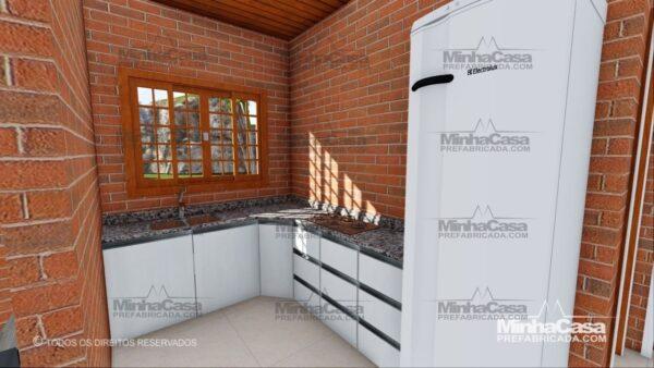 Minha casa pré fabricada modelo Tijolo ecologico 75,25M² 10