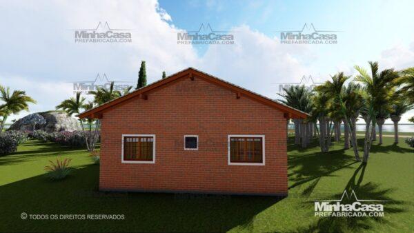 Minha casa pré fabricada modelo Tijolo ecologico 75,25M² 11