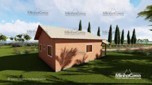 Minha casa pré fabricada modelo Tijolo ecologico 75,25M² 12