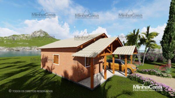 Minha casa pré fabricada modelo Tijolo ecologico 75,25M² 13