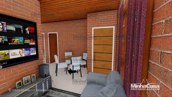 Minha casa pré fabricada modelo Tijolo ecologico 75,25M² 16