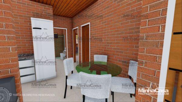 Minha casa pré fabricada modelo Tijolo ecologico 75,25M² 17
