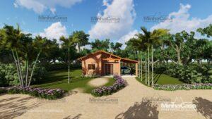 Minha casa pré fabricada modelo Tijolo ecologico 90,25M² 01