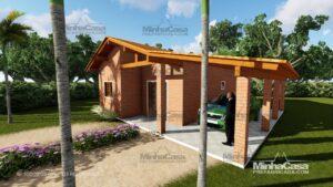 Minha casa pré fabricada modelo Tijolo ecologico 90,25M² 08