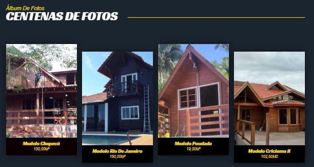 Fotos de casas pré fabricadas de madeira