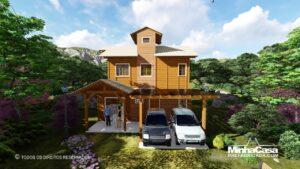 Minha casa pré fabricada modelo Rancho Queimado 01