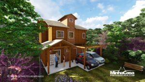 Minha casa pré fabricada modelo Rancho Queimado 08
