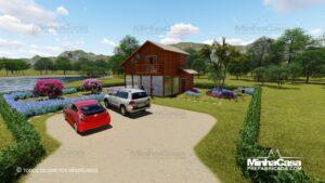 Casa de madeira modelo itapocu 01