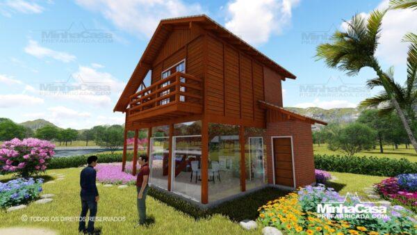 Casa de madeira modelo itapocu 02