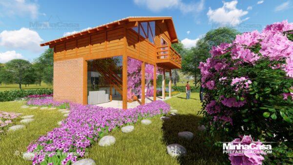 Casa de madeira modelo itapocu 05