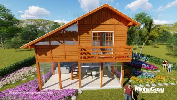 Casa de madeira modelo itapocu 06