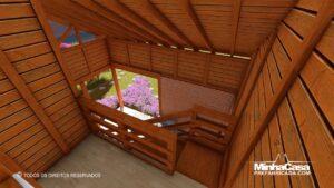 Casa de madeira modelo itapocu 11
