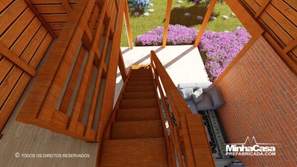 Casa de madeira modelo itapocu 12