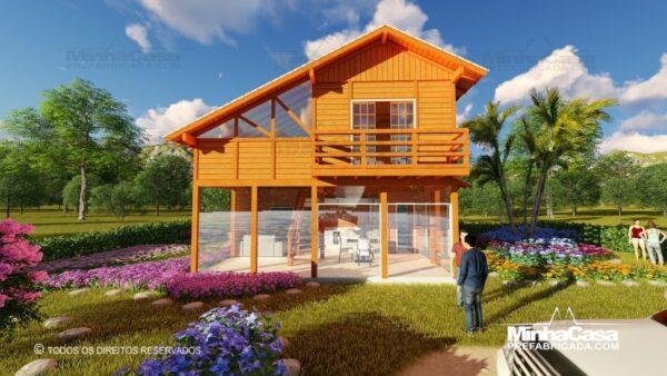 Casa de madeira modelo itapocu 14